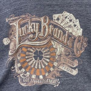 Lucky brand charcoal color men's Tee Shirt